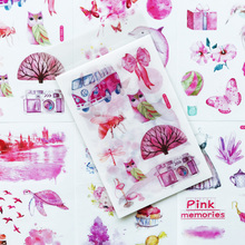 Sticker Stationery Notebook Cute Pink Label Diy-Decor Gift 6-Sheets/Pack Computer-Phone