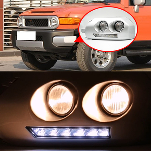 Image 5 - 1ペア車のled drl昼間ランニングライトトヨタfjクルーザー2007 2008 2009 2010 2011 2012 2013 2014フォグランプフレームフォグライト