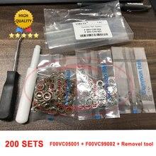 תיקון ערכת אטם F00VC99002 1.34mm פלדה כדור F00VC05001 1.5mm קרמיקה כדור F00VC05009 F00VC05008 F00RJ02177 עבור בוש