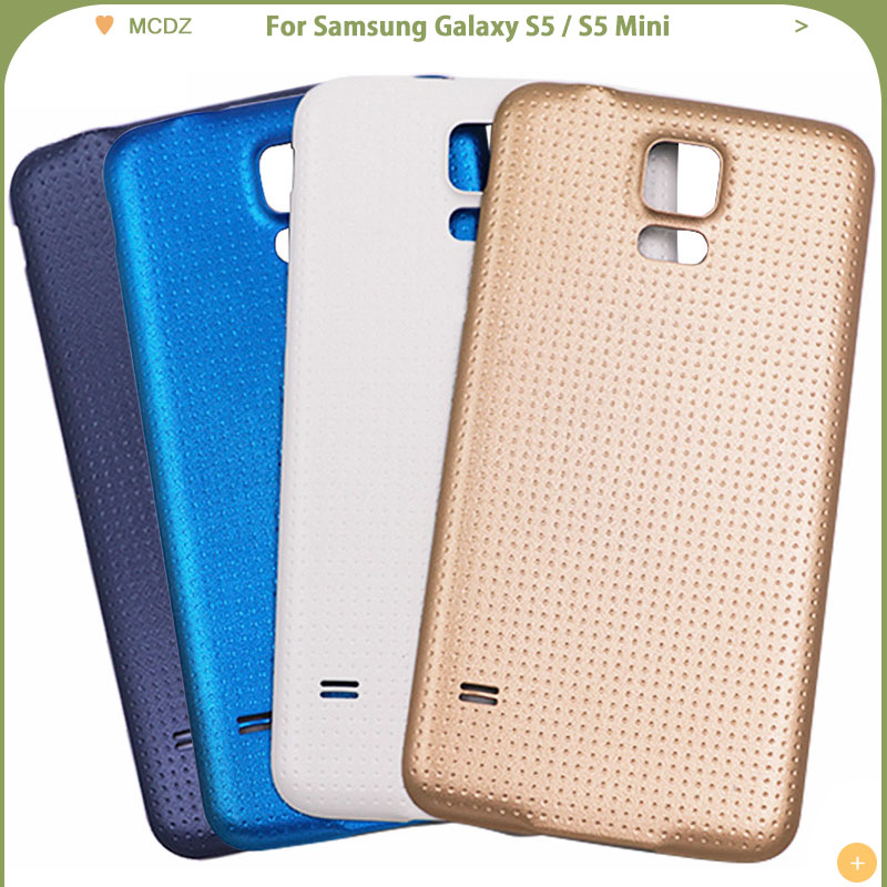 New S5 Mini For Samsung Galaxy S5 I9600 S5 Mini G800 Battery Cover Rear Back Door Glass Housing Case