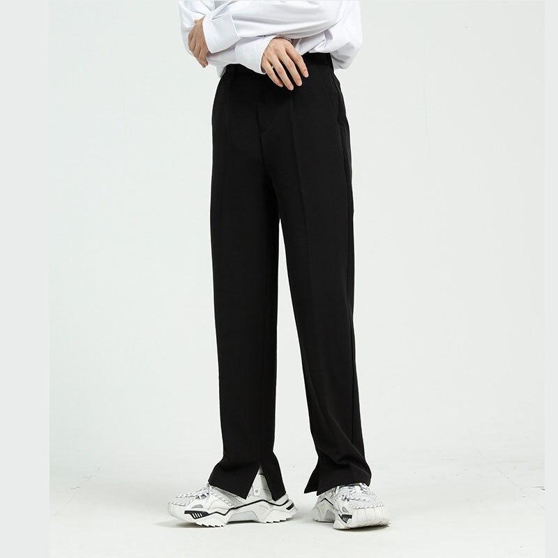 3 cores dos homens casual terno pant masculino japão coreia streetwear moda vintage calças compridas calças retas