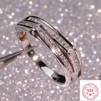 925 plata esterlina VS1 anillo de diamantes para mujer 2 quilates blanco Topacio Bizuteria Anillos piedras preciosas sello plata 925 caja de anillo de joyería