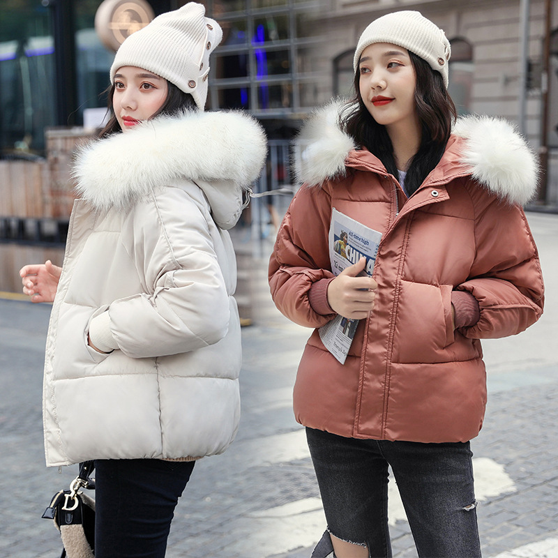2020 Winter New Style Down Jacket Cotton-padded Clothes Women's Korean-style Short Women's Loose-Fit Warm Thick Cotton Coat Hood