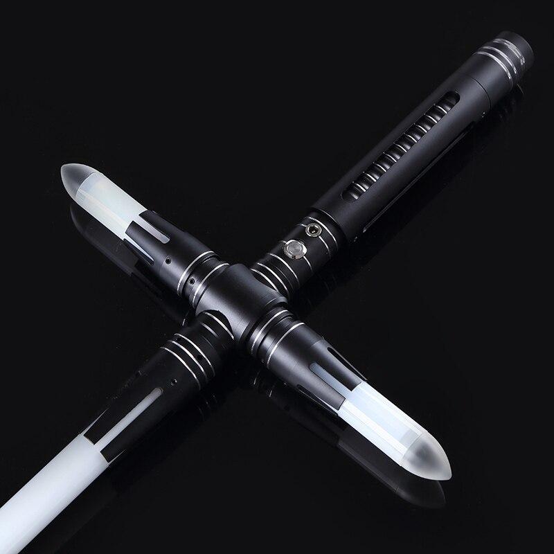 Sabre lumineux épée bâton Force lourd duel Led sabre laser avec Foc verrouiller en métal poignée Blaster son enfants cadeau - 3