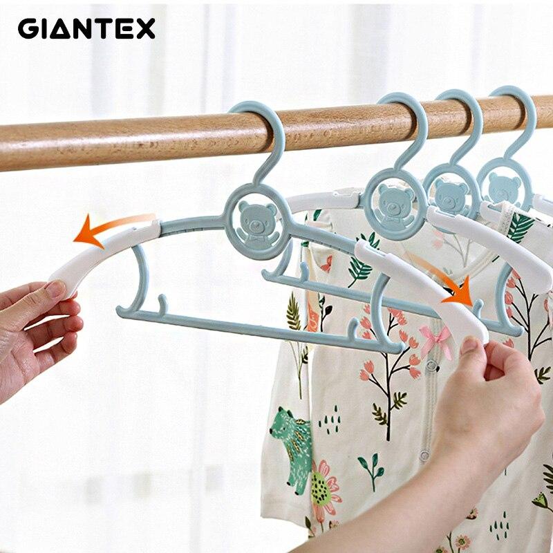 5/10/20pcs Baby Clothes Hanger Flexible Racks Plastic Clothing Display Kids Hangers Unmarked Children Coats Hanger Organizer