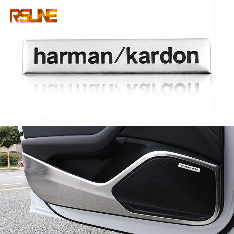Harman Kardon Car Audio Decorate Car Hi-fi Speaker Sticker For Audi A1 A3 A4 A5 A6 B6 B7 B8 C5 C6 C7 Q5 Q7 8p 8v Car Accessories