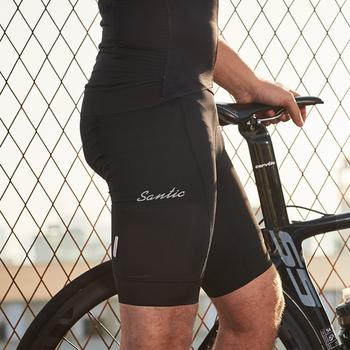 Santic męskie spodenki rowerowe spodenki rowerowe Coolmax 4D wyściełane spodenki rowerowe MTB górskie spodenki rowerowe M9C05105 S-3XL tanie i dobre opinie NYLON spandex Pasuje mniejszy niż zwykle proszę sprawdzić ten sklep jest dobór informacji Odblaskowe Anti-pot Szybkie suche