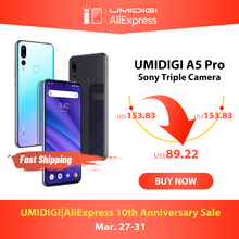 Смартфон UMIDIGI A5 PRO, Android 9,0, Восьмиядерный, 6,3 дюйма, FHD +, 16 МП, 4150 мАч, 4 Гб RAM, 4G