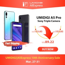 Versi Global Umidigi A5 Pro Android 9.0 Octa Core 6.3