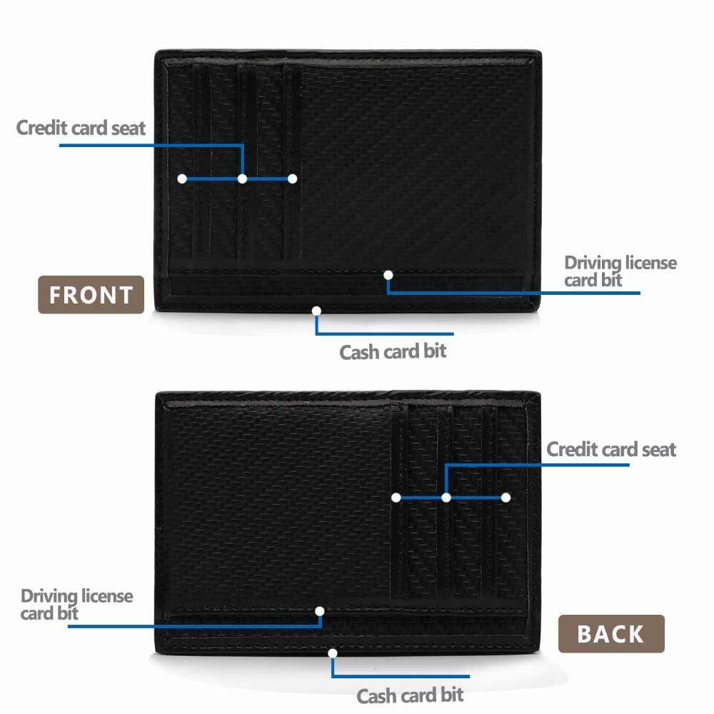 Объектив Canon M логотип кредитных карт и карман для удостоверения личности-Man Бизнес держатель для карт чехол-портмоне с отделением для паспорта, сумка для Для мужчин кошелек Футляр Обложка для водительского удостоверения