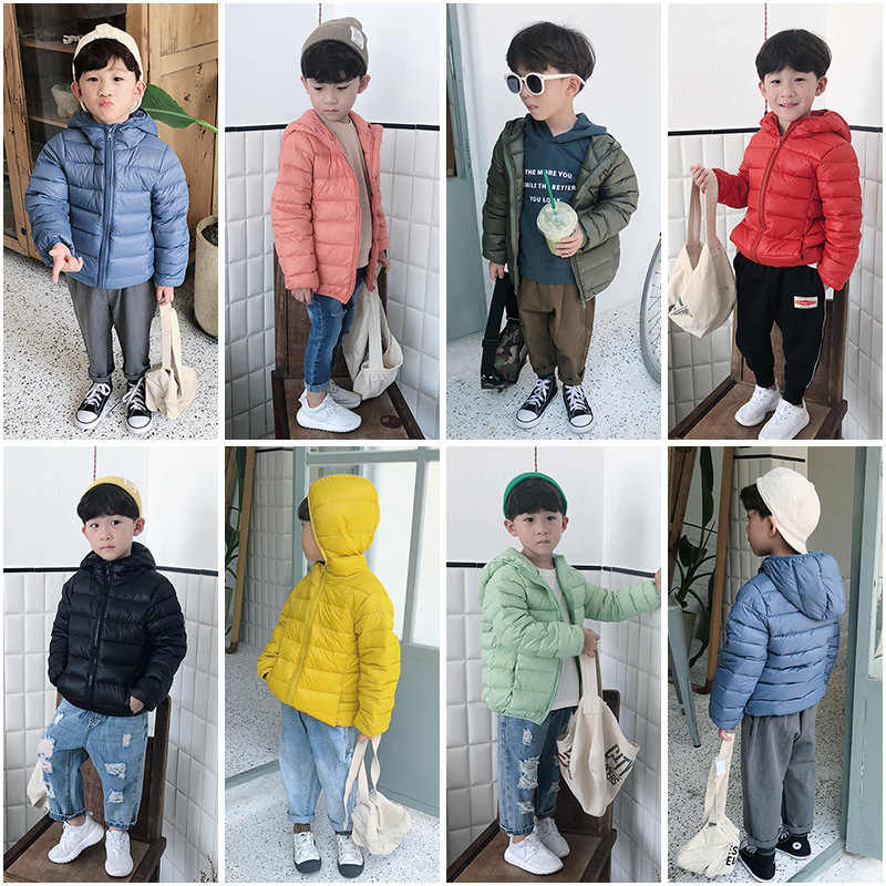 High Quality 90% Duck Feather Ultra Light Boys Girls Children's Autumn Winter Jackets Baby Down Coat Jackets Outerwear CA439