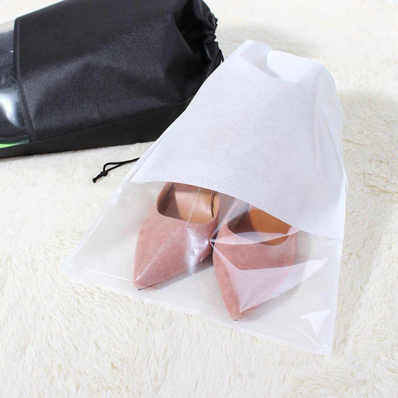 ארגונית ארון שאינו ארוג נעלי אחסון תיק נסיעות נייד תיק עמיד למים כיס בגדי מסווג תליית תיק 10pcs