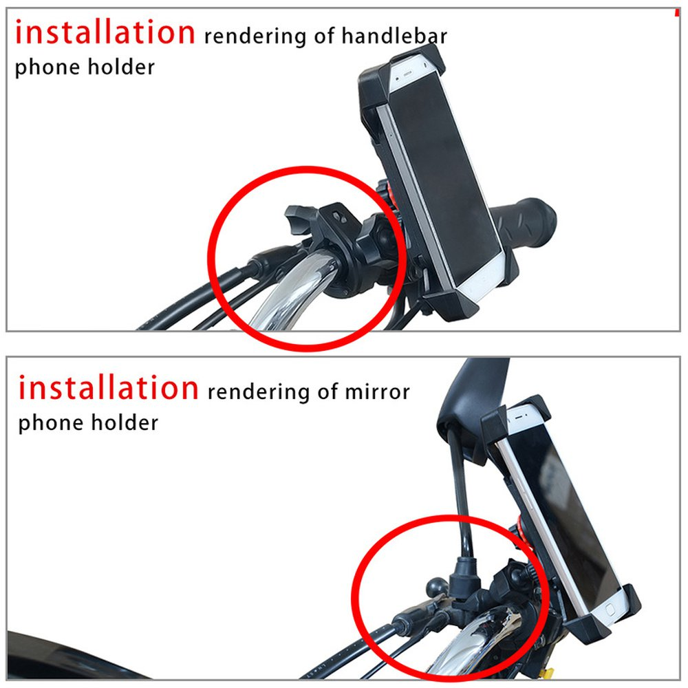 Motorcycle 12v To 5v Mobile Phone Holder Rechargeable Models Four Corners Fixed Shockproof Anti-drop Mobile Phone Bracket Hot
