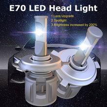 Автомобильный h7 h4 светодиодный головной светильник 12v 24v