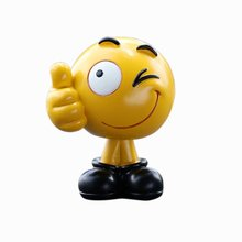 Cartoon (FOR)Facial Expression Style Shaking Head Figure Car Ornaments Auto Interior Decorations Doll Toys Ornament Accessories premium new funny spring man emoji emotion face expression figure shaking head doll for children toys gifts car decor supplies