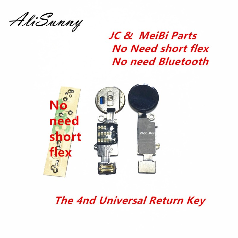 AliSunny 5pcs 4nd Universal Home Button Flex Cable for iPhone 7 8 Plus Menu Keypad Return On Off Fuction Solution-in Mobile Phone Flex Cables from Cellphones & Telecommunications    1