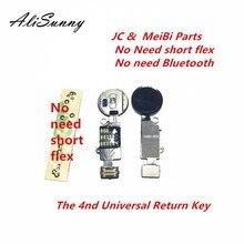 Alisunny 5個4ndユニバーサルホームボタンフレックスケーブルiphone 7 8プラスメニューキーパッドリターンオフのfuctionソリューション