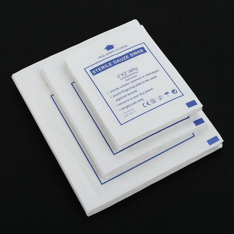 Новинка, 10 шт./лот, марлевая прокладка, 100% хлопок, первая помощь, водонепроницаемая повязка для ран, стерильная марлевая прокладка, принадлеж...