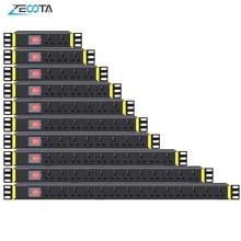 PDU 1Uเครือข่ายตู้Rack Strip Distribution Outlet 1/2/3/4/5/6/7/8/10/12/14 Units Universal Socket Break Switch Plug