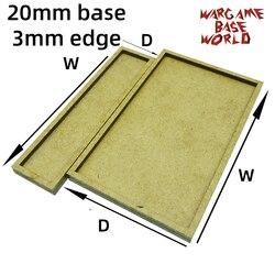 Wargame Base World-taca ruchu wargame-podstawy 20mm z krawędzią 3mm