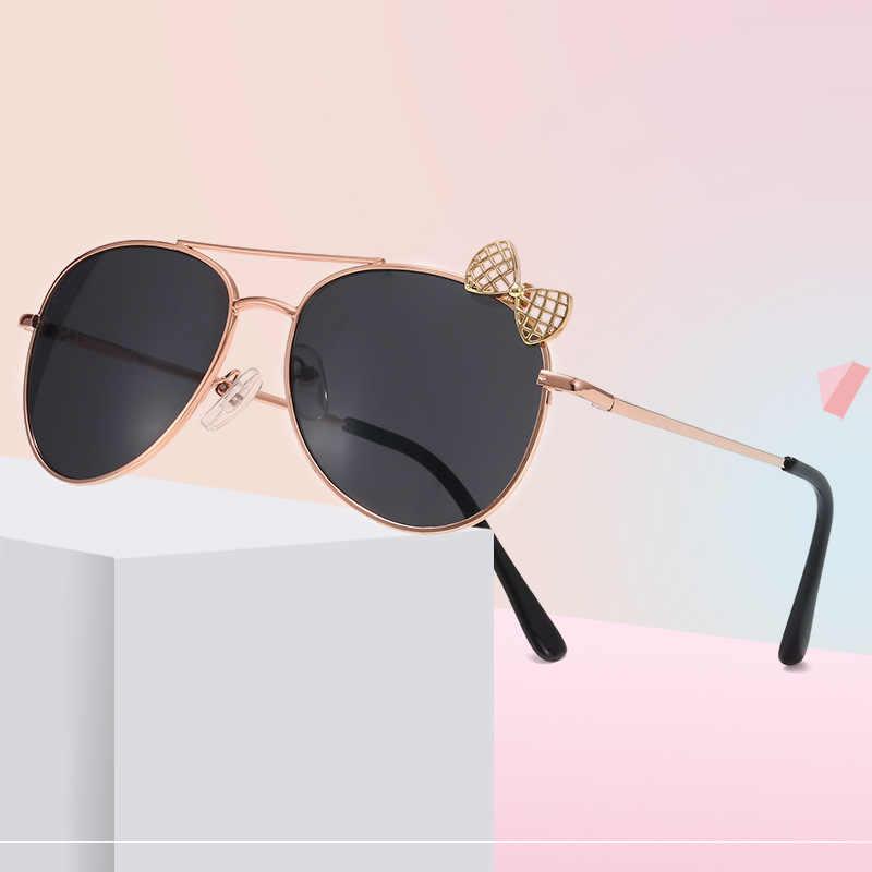3-7years UV400 Moda Alloy Clássico Design Da Marca Do Vintage Gafas Oculos de sol feminino Óculos de Sol Do Bebê Meninas Crianças dos miúdos n837