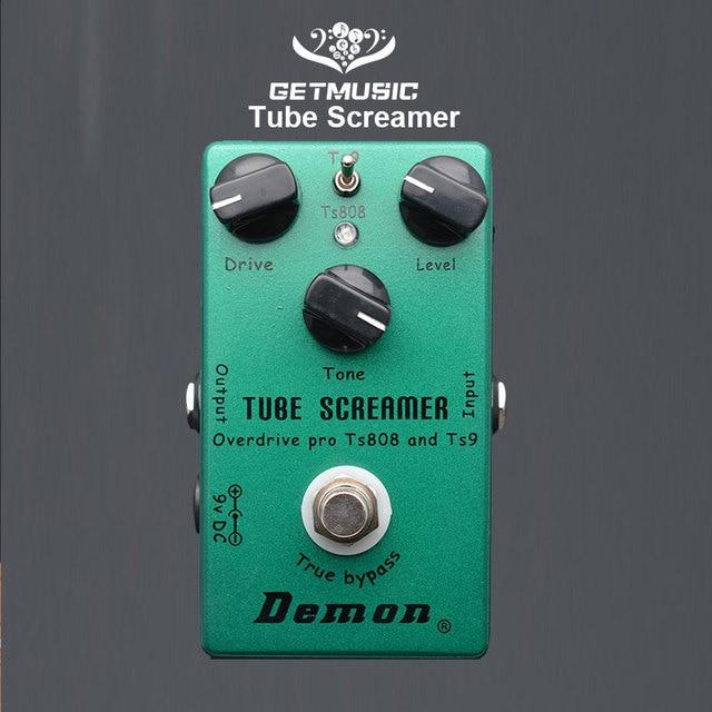 Demônio ts808 tubo screamer overdrive pro pedal efeito guitarra elétrica do vintage