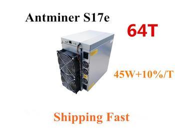 AntMiner S17e 64TH S z zasilacz BTC górnik lepiej niż S9 S9j S15 T17 S17 S17 Pro WhatsMiner M3 M21S M20S Innosilicon T2T Ebit E10 tanie i dobre opinie YUNHUI 10 100 mbps 12KG 2880w+10