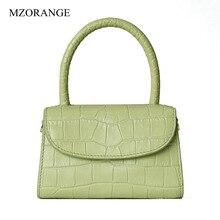 2019 New Fashion Genuine Leather Women Bag Vintage Alligator Pattern Small Flap Cow Handbag Crossbody Luxury