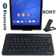 Wireless Keyboard Bluetooth Keyboard for Sony Xperia Z3 8.0 Inch Tablet Ultra Slim Rechargeable Keyboard for Android Ios Windows