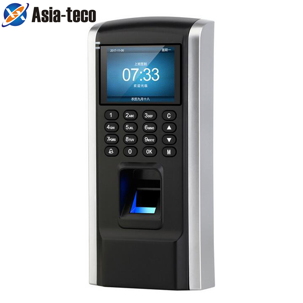 LUCKING ประตู Fingerprint Access Control พนักงานเข้าร่วมประชุมเวลา RFID การเข้าถึง Biometric TCP/IP พอร์ต USB