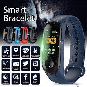 Pulseira inteligente tft tela freqüência cardíaca esportes à prova dwaterproof água relógio de monitoramento do sono rastreador de fitness relógio inteligente esporte pulseira