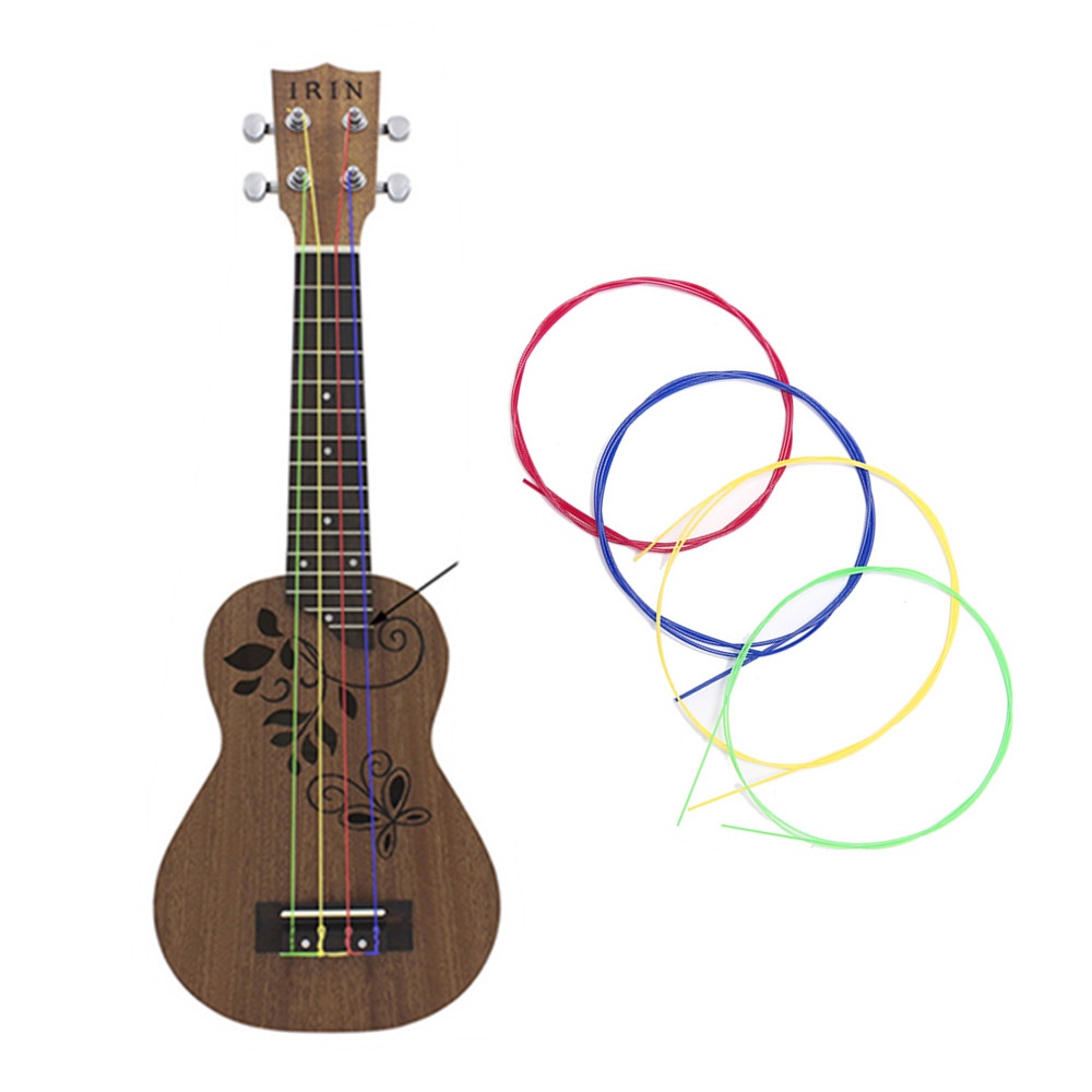 New 4pcs/set Nylon Rainbow Colorful Ukulele Strings Durable Replacement Part for Ukulele Guitar Musical Instrument Accessories