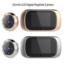 2.8 인치 LCD 컬러 스크린 디지털 초인종 90도 도어 아이 초인종 전자 틈 구멍 카메라 뷰어 야외 도어 벨