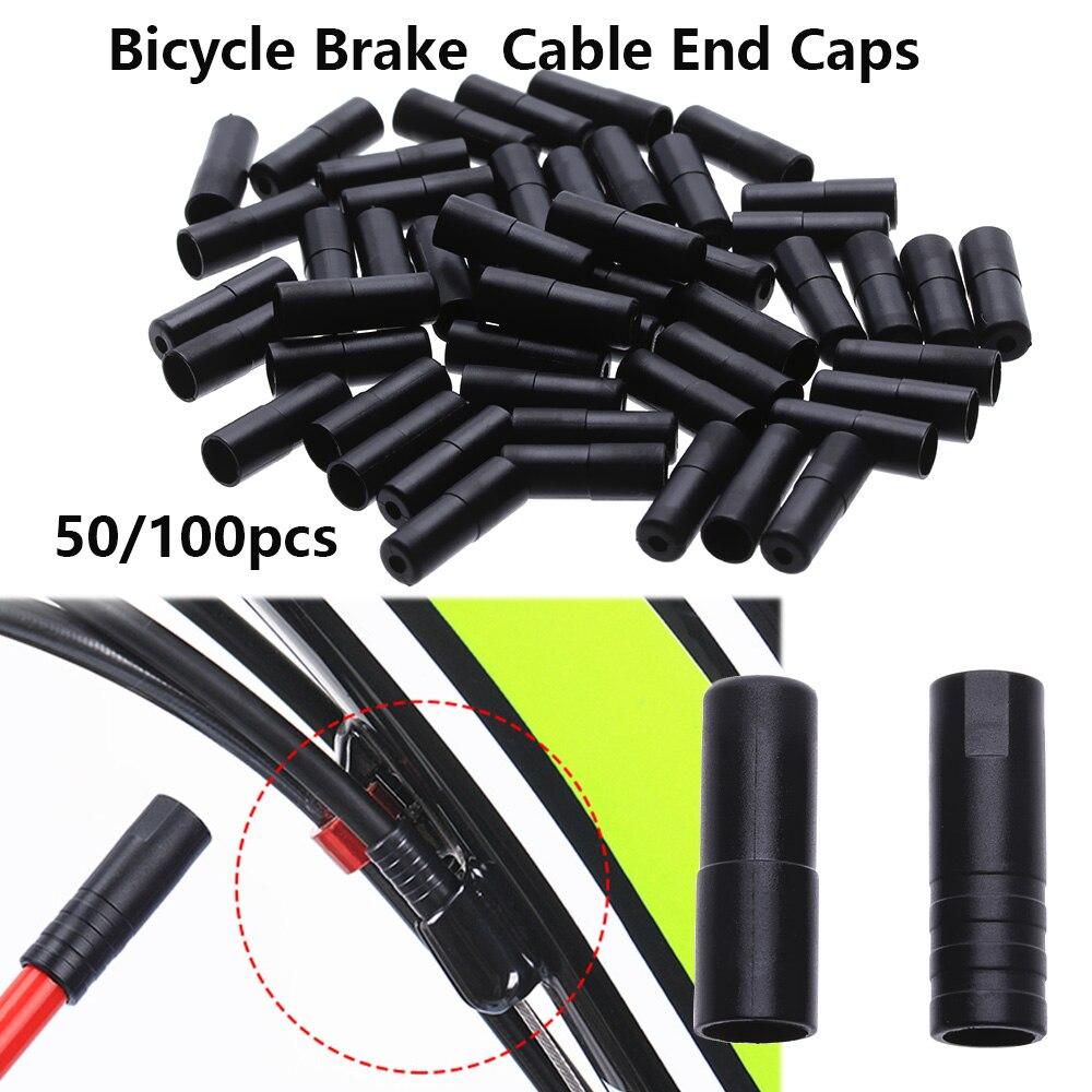10 Pieces Bike Brake Cable Ends Caps Crimps Brake Cable Tips Black