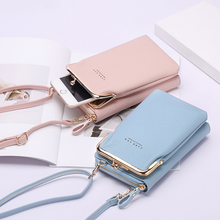 Women Phone Bag Solid Crossbody Bag Cellphone Bag Fashion Daily Use Card Holder Mini Summer Shoulder Bag for Women Wallet