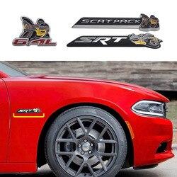 Metal 3D 6.4L SCATPACK Super Bee SRT Emblema Emblema Etiqueta Para JEEP Dodge Chrysler GMC Chevrolet Tronco Do Lado Do Corpo Do Carro tuning