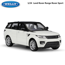 Welly Diecast Model Car 1:24 Scale Car Toy Land Rover Range Rover Sport SUV Metal Alloy Toy Car For Children Gift Collection