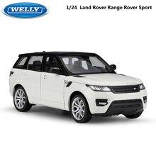 Welly Diecast Modello di Auto 1:24 Bilancia Auto Giocattolo Land Rover Range Rover Sport SUV In Lega di Metallo Auto Giocattolo Per I Bambini dono di Raccolta