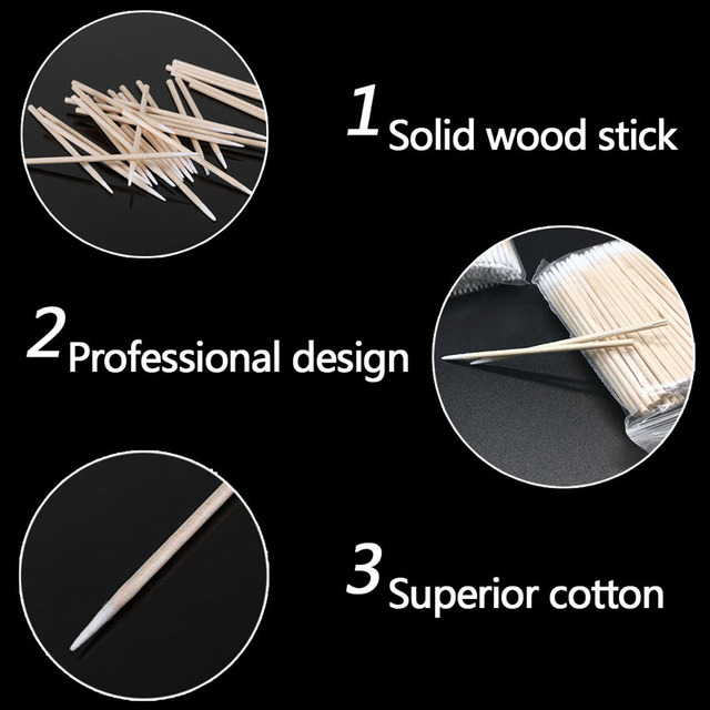 5000pcs Cotton Swab Wood Disposable Tattoo Microblading Permanent Makeup Tools for Cosmetic Beauty Soft Swab Stick Buds Tip 2