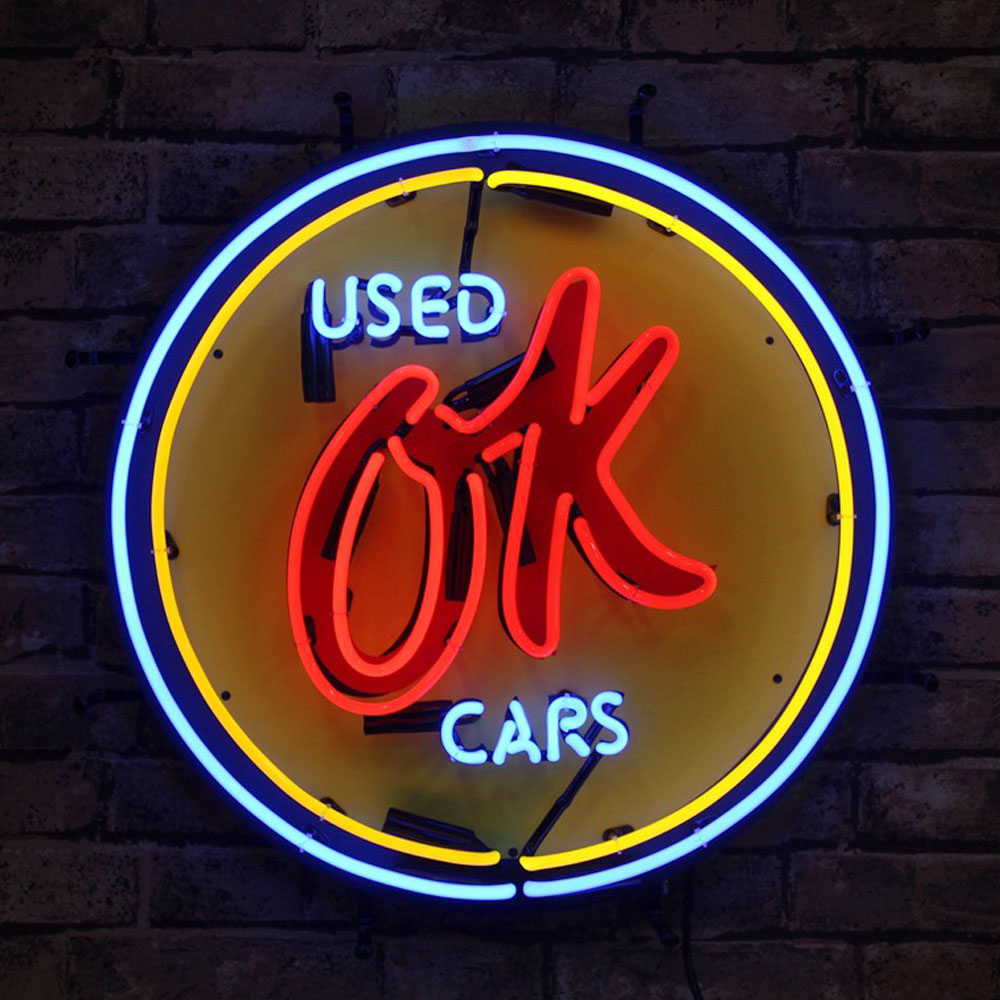 Custom Classic Real Neon Glass Tube Sign Ok Logo Design Your Own Neon Signs Luminous Neon Bar Signs