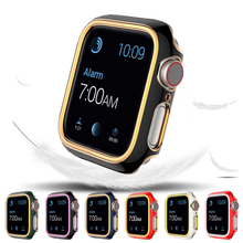 Pc-Case Bumper Apple Watch Thin-Cover Protective-Anti-Fall 6-Series for 5/4/3/2 Plating