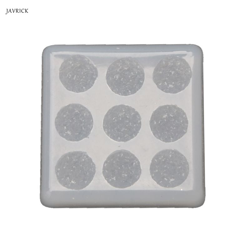 Handmade 12mm Sparkle Crystal Cluster Resin Molds Flat Round Resin Gem Earrings Epoxy Resin Mold Jewelry Making Tools