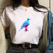 Women Graphic Watercolor Vintage Cute Printing 90s Short Sleeve 90s Print Clothes Lady Tees Tops Female T Shirt Womens T-Shirt