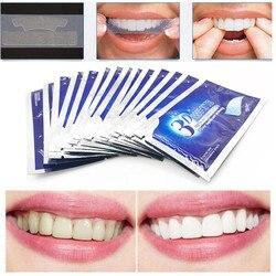 28 шт./14 пар 3D белые гелевые отбеливающие полоски для зубов, гигиена полости рта, уход за полостью рта, двойные эластичные полоски для зубов, о...