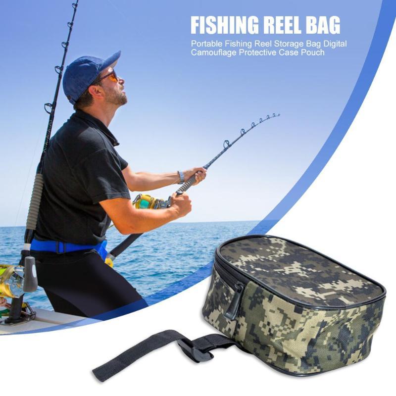 Camouflage Fishing Gear Bag Lu Yalun Barrel Sub Bag Fishing Boat And Army Green Mosaic Camouflage Can Hang Can String Belt