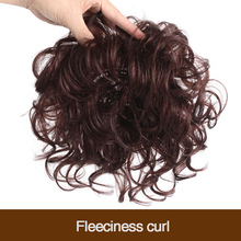 MUMUPI fake hair  Clip In Toupee Natural Color curly Hair Bang Top Closures Hairpins Synthetic hairHairpieces hair extensions