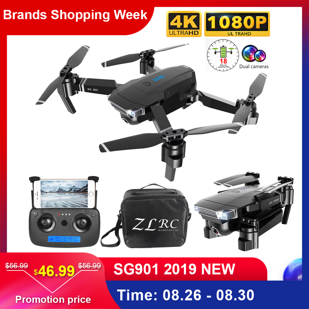 ZLL SG901 1080P 4K Drone With Dual Camera Professional GPS RC Drone Optical Flow Positioning Foldable RC Quadcopter Helicopter