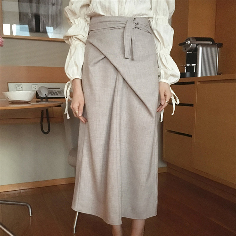 Hzirip High Waist Elegance Straight Solid Gentle 2020 Sweet New Vintage All-match Women Brief Office Lady Casual Chic Skirts