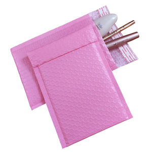17 sizes 10PCS Light Pink Poly Bubble Mailer Padded Envelope self seal mailing bag bubble envelope Shipping envelope