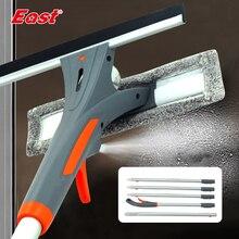 East limpiador de ventanas con espray cepillo de limpieza de vidrio, rascador de limpiacristales, herramientas de limpieza del hogar para ventanas